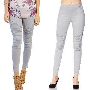 Pants - NWT light gray Moto Leggings PRICE FIRM